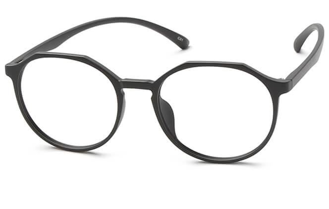 Jonas Round Eyeglasses, Black;tortoiseshell;purple;pink