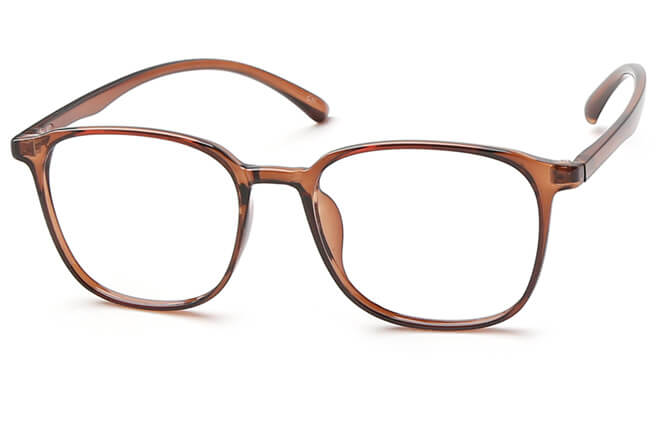 Freddie Squre Eyeglasses, Brown;grey
