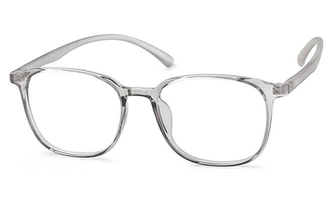 Freddie Squre Eyeglasses, Grey
