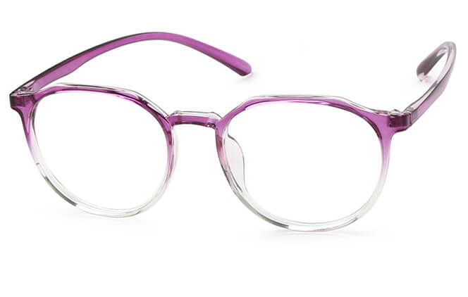 Alizee Round Eyeglasses, Black;purple;blue