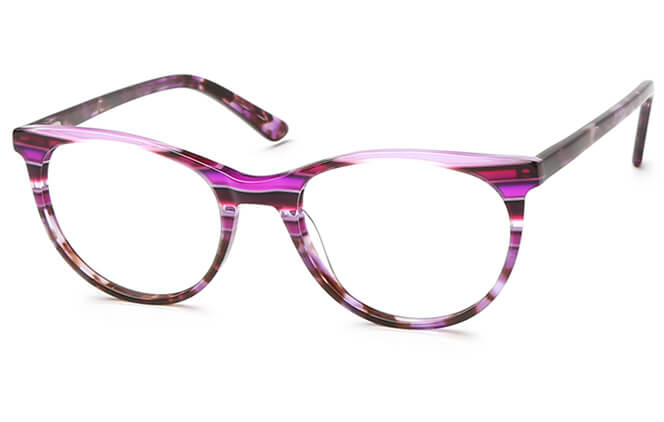 Morgane Spring Hinge Oval Eyeglasses, Other;purple