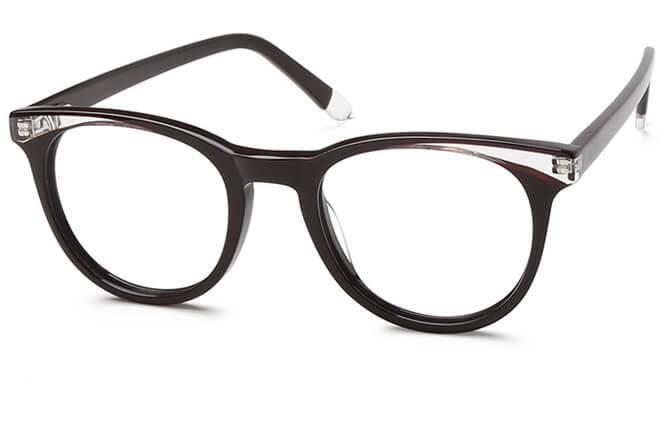 Russian Spring Hinge Cat Eye Eyeglasses, Pink;black