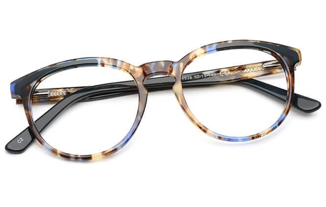 Keeley Spring Hinge Oval Eyeglasses
