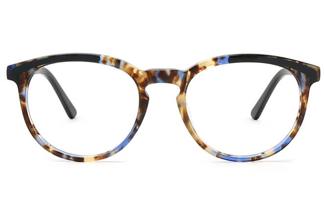 Keeley Spring Hinge Oval Eyeglasses