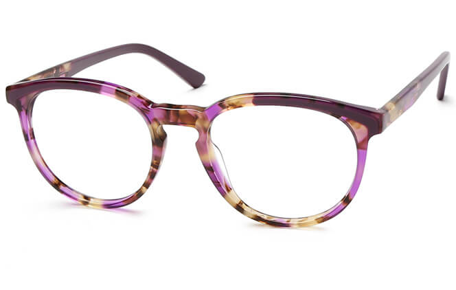 Keeley Spring Hinge Oval Eyeglasses, Other;tortoiseshell;purple