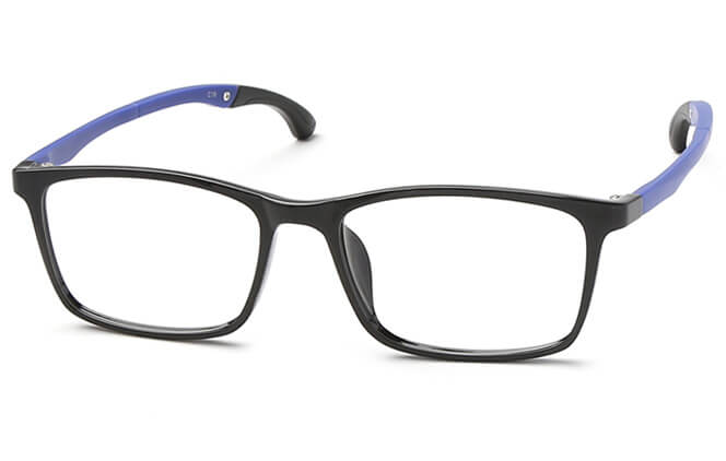 Suede Anti-Slip Rectangle Eyeglasses, Black;grey;blue