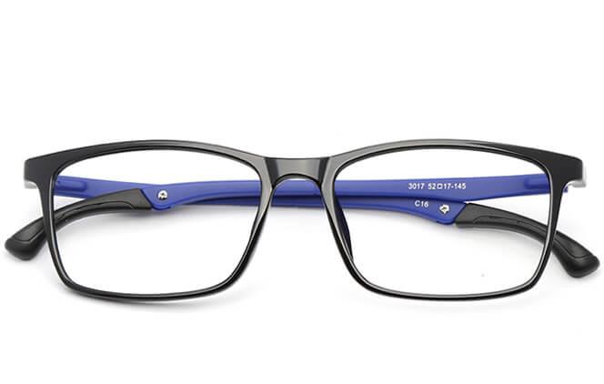Suede Anti-Slip Rectangle Eyeglasses