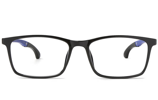 Suede Anti-Slip Rectangle Eyeglasses