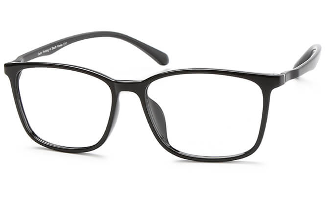 Paula Rectangle Eyeglasses, Brown;brilliant black;matte black