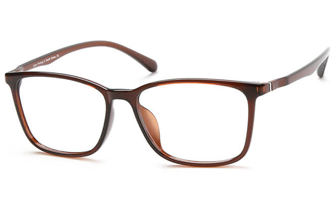 Paula Rectangle Eyeglasses, Brown;brilliant black;matte black