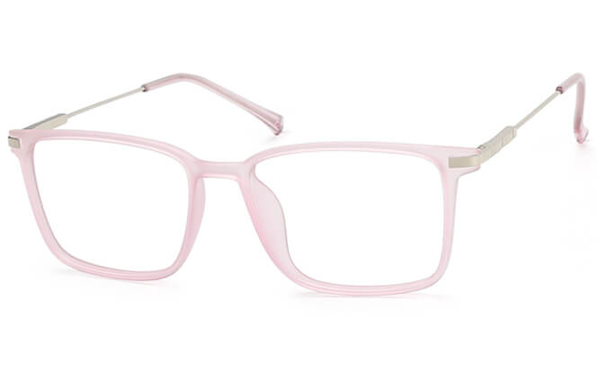 Nicole rectangle spring hinge Eyeglasses, Grey;champagne;pink