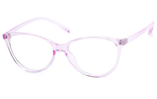 Palvin Cat Eye Eyeglasses, Pink;brown;purple;clear