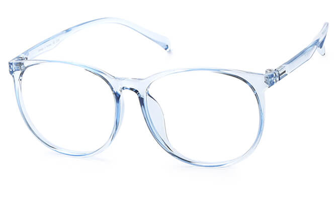Kroes Round Eyeglasses, Blue;pink;champagne