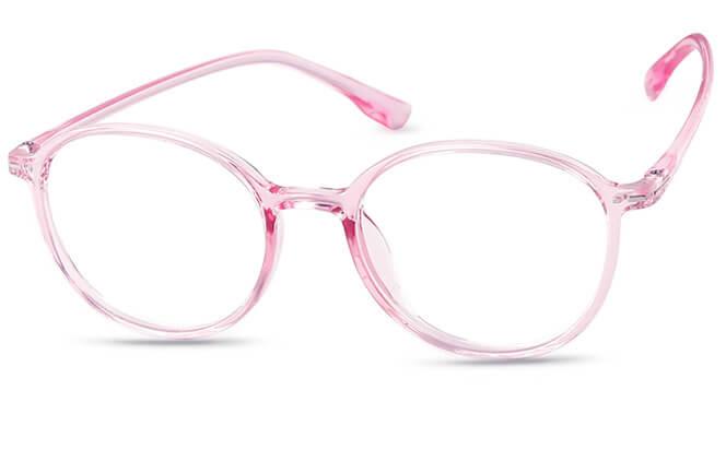 Joelene Round Eyeglasses, Pink;purple