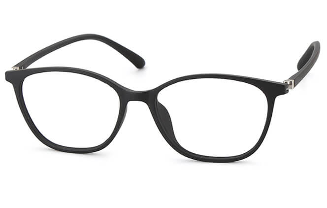 Molly Oval Eyeglasses, Pink;black