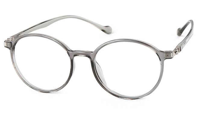 Leslie Round Eyeglasses, Grey