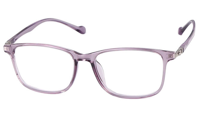 Adrianne Rectangle Eyeglasses, Purple