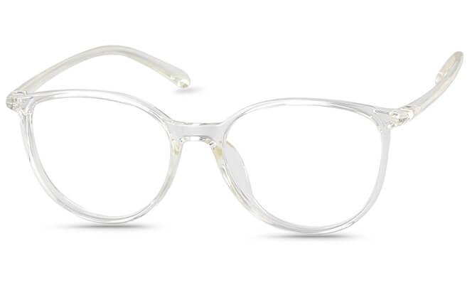 Cady Round Eyeglasses, Clear
