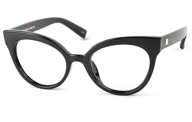 Charlize Cat Eye Eyeglasses, Blue;black;white;floral