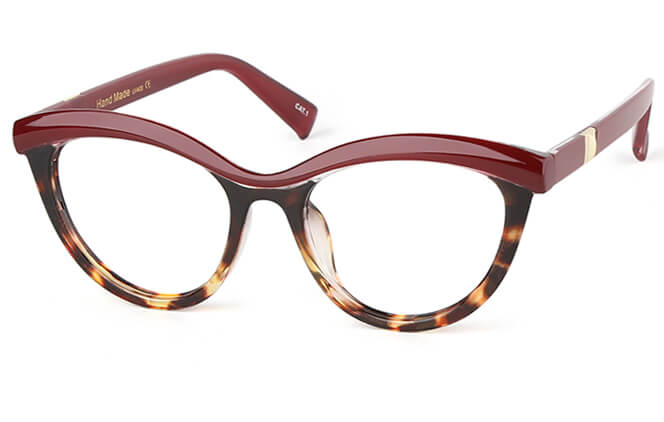 Elida Cat Eye Eyeglasses, White;black;tortoiseshell;burgundy