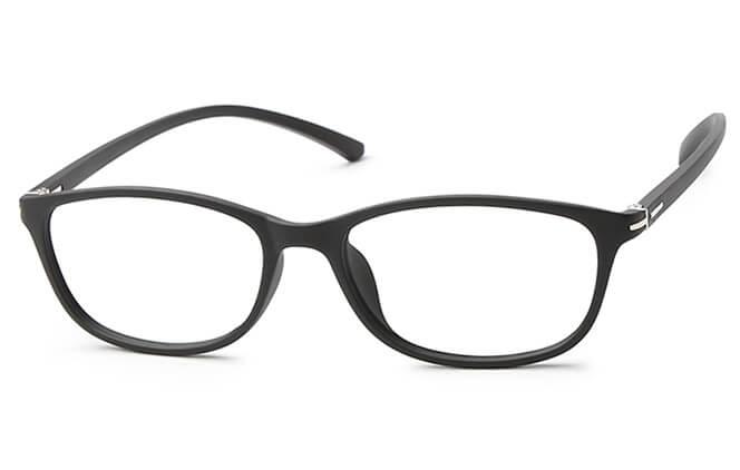 Dawn Rectangle Eyeglasses, Black