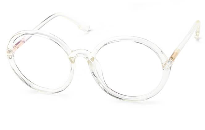 Milo Round Eyeglasses, Black;clear