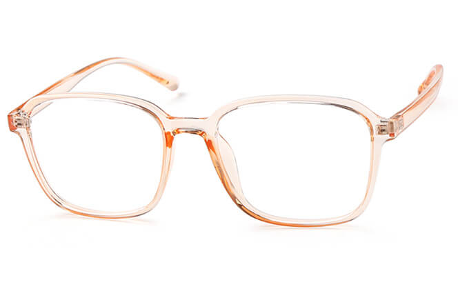 Mandy Square Eyeglasses, Orange
