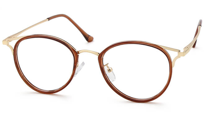 Doutzen Cat Eye Eyeglasses, Brown
