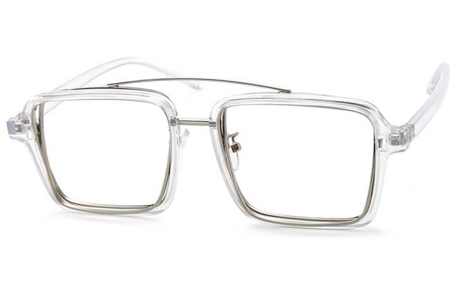 Rosale Aviator Eyeglasses, Clear;black;pink