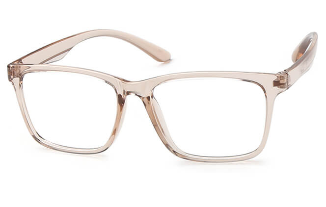 Sebastiane Rectangle Eyeglasses, Burgundy;brown