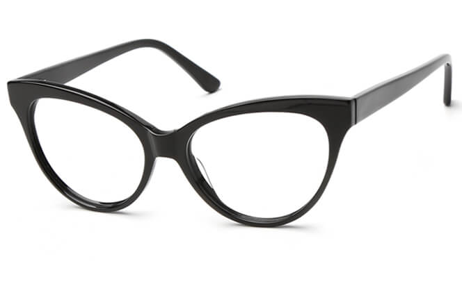 Lily Spring Hinge Cat Eye Eyeglasses, Black