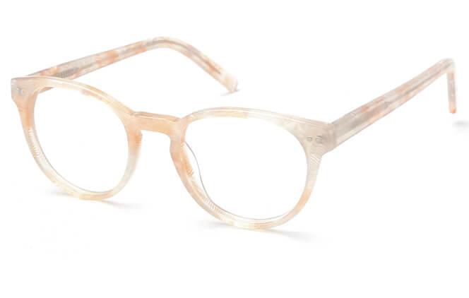 Izabel Spring Hinge Oval Eyeglasses, Black & white;champagne