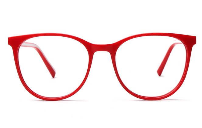Karen Spring Hinge Oval Eyeglasses