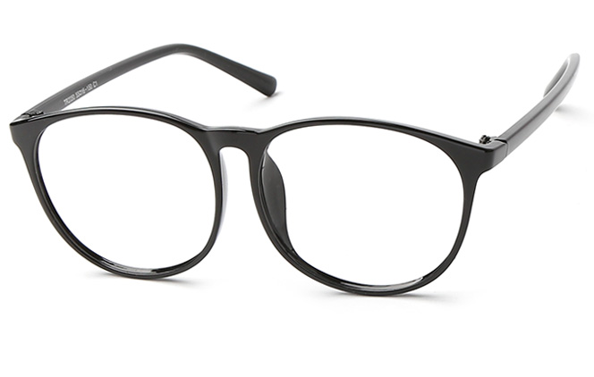 James Oval Eyeglasses, Black