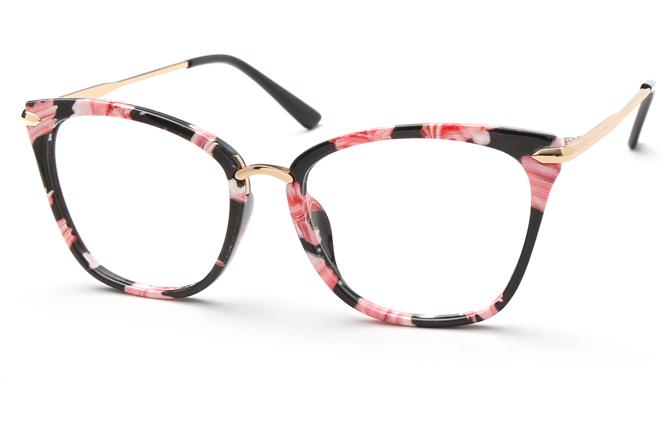 Ivana Cateye Eyeglasses, Tortoiseshell;grey;black;floral