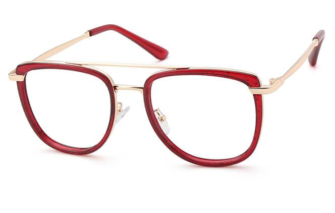 Serafina Aviator Eyeglasses, Clear;champagne;burgundy;black;tortoiseshell