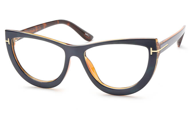 Dione Spring Hinge Cat Eye Eyeglasses, Tortoiseshell;brown;blue;black