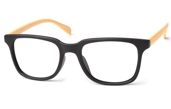 Eva Rectangle Eyeglasses, Black