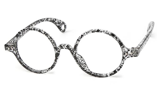 Heloise Round Eyeglasses, Black
