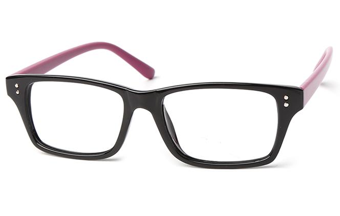 Ashanti Rectangle Eyeglasses, Black
