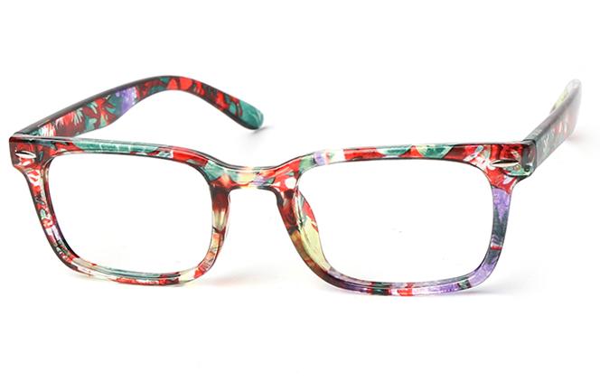 Debbi Rectangle Eyeglasses, Floral