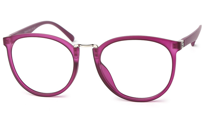 Simona Oval Eyeglasses, Blue;purple;brilliant black;matte black