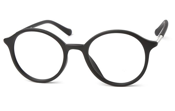 Patrick Round Eyeglasses, Brilliant black;matte black