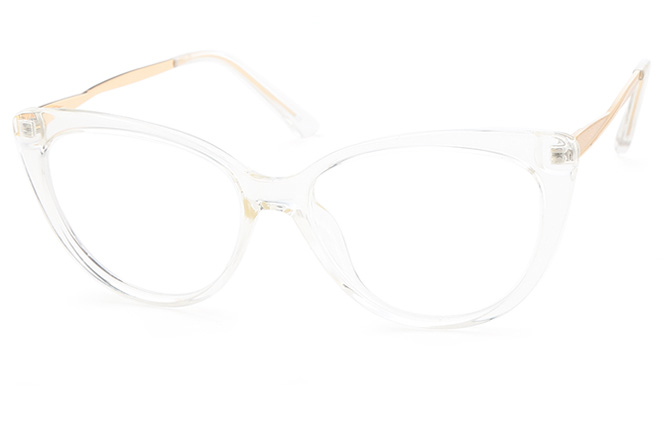 Nora Cateye Eyeglasses, Clear;khaki;red