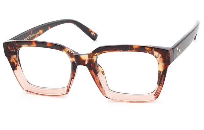 Winni Rectangle Eyeglasses, Tortoiseshell;black;clear