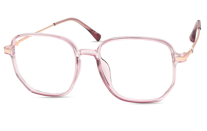 Cassie Square Eyeglasses, Brown;pink