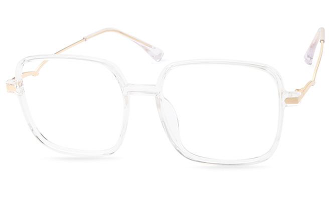 Nicki Square Eyeglasses, Pink;black;clear