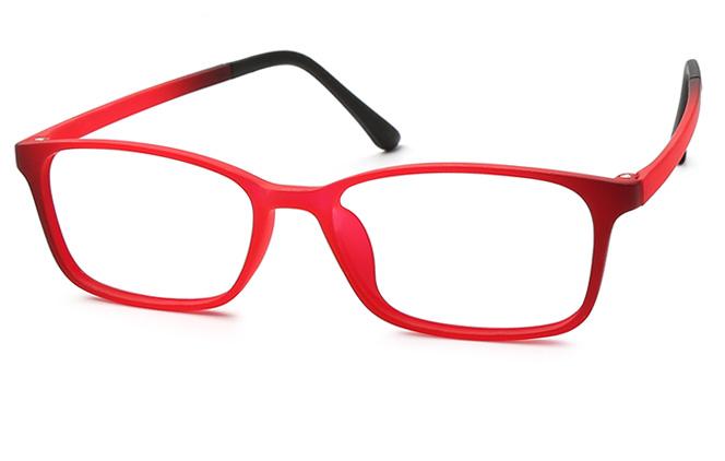 Jaime Rectangle Eyeglasses, Red