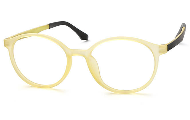 Karyn Round Eyeglasses, Purple;red;yellow
