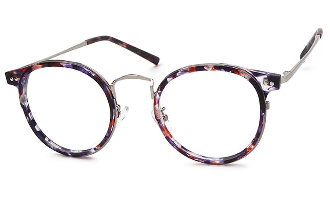 Ula Round Eyeglasses, Floral;tortoiseshell